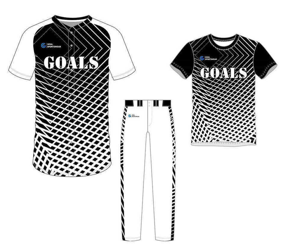 Sublimation high quality custom youth v neck softball uniforms team packages