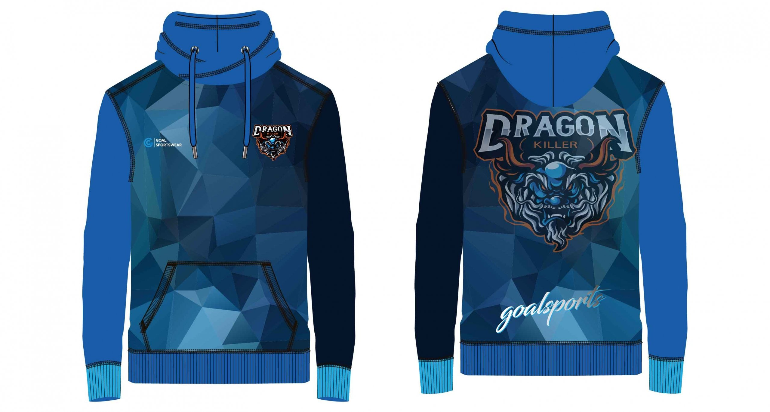 Sublimation printing 100% polyester dry fit custom wrestling hoodies