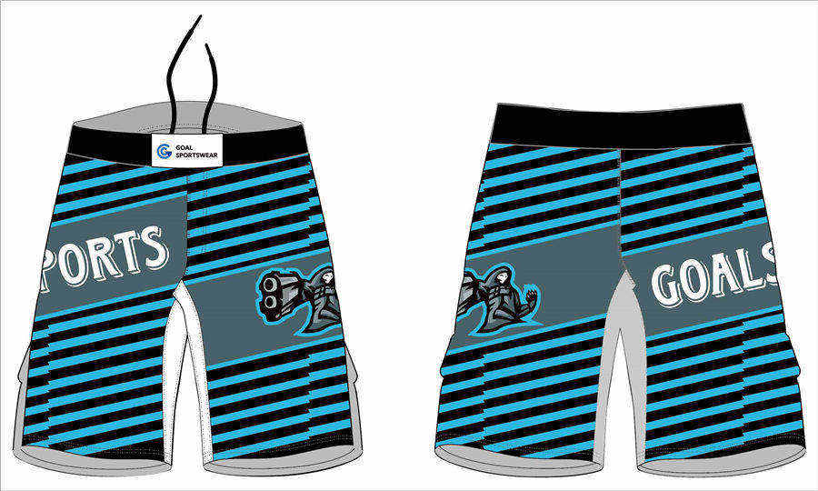 Wholesale China custom design sublimation printing wrestling MMA fight shorts