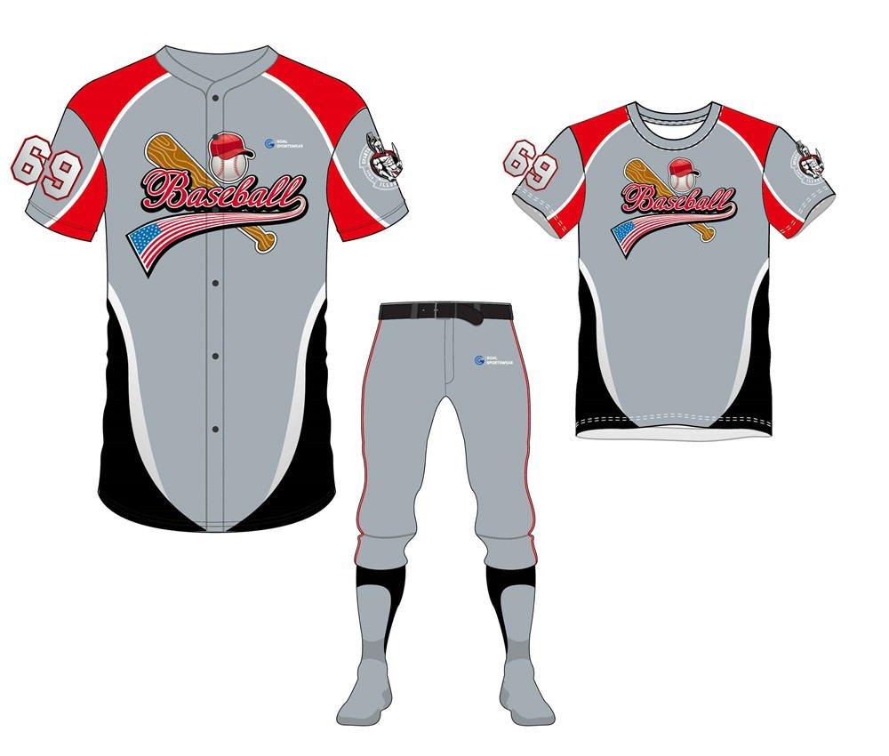 Wholesale high quality sublimation custom team baseball uniform packages