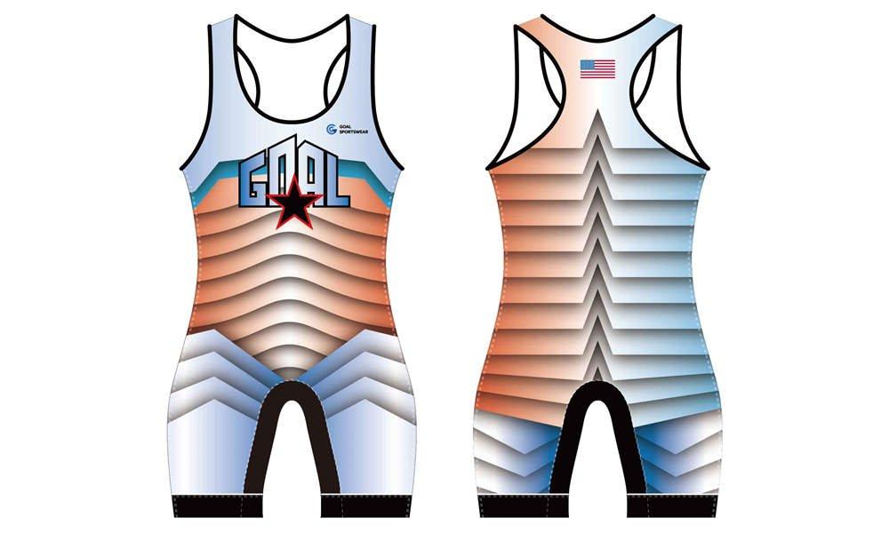 Wholesale high quality sublimation custom team wrestling uniform
