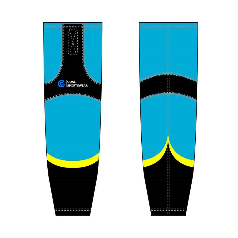 Wholesale high quality sublimation printing custom ice hockey socks