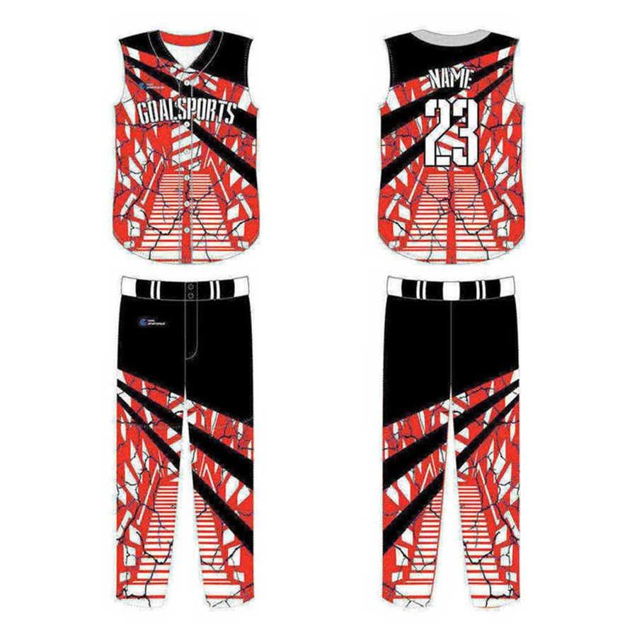 Wholesale high quality sublimation printing custom sleeveless baseball jersey