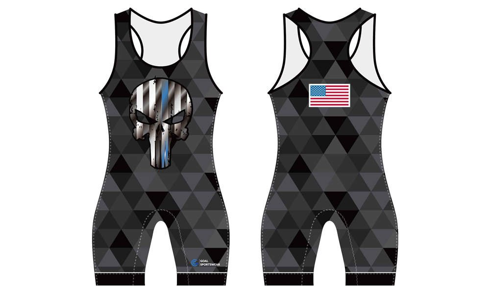 Wholesale high quality sublimation printing custom wrestling uniform