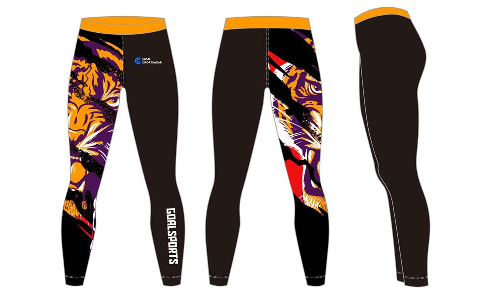 Wholesale polyester spandex custom made sublimation mens compression pants