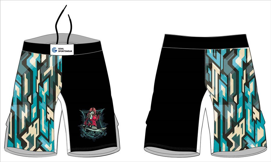 Wholesale polyester spandex custom made sublimation mma shorts with pockets