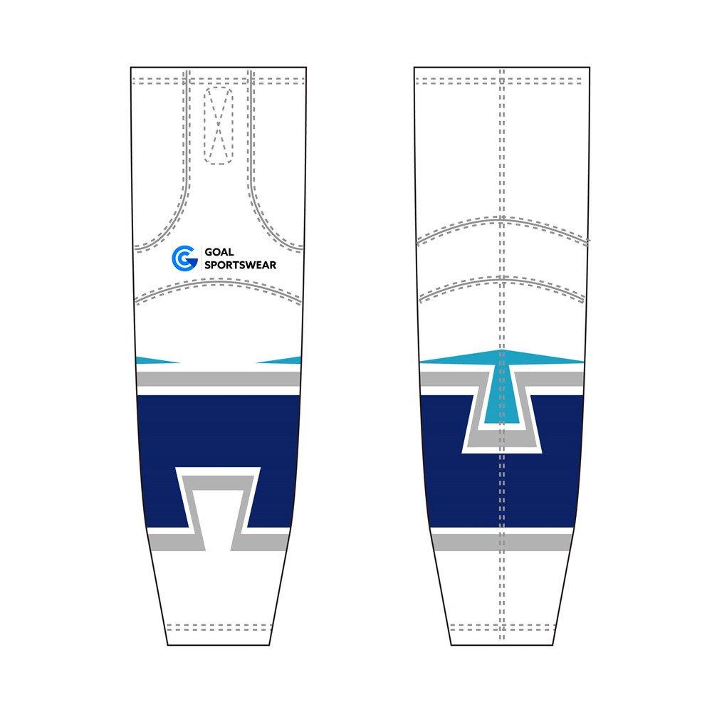 Wholesale pro quality custom design sublimated kids hockey socks