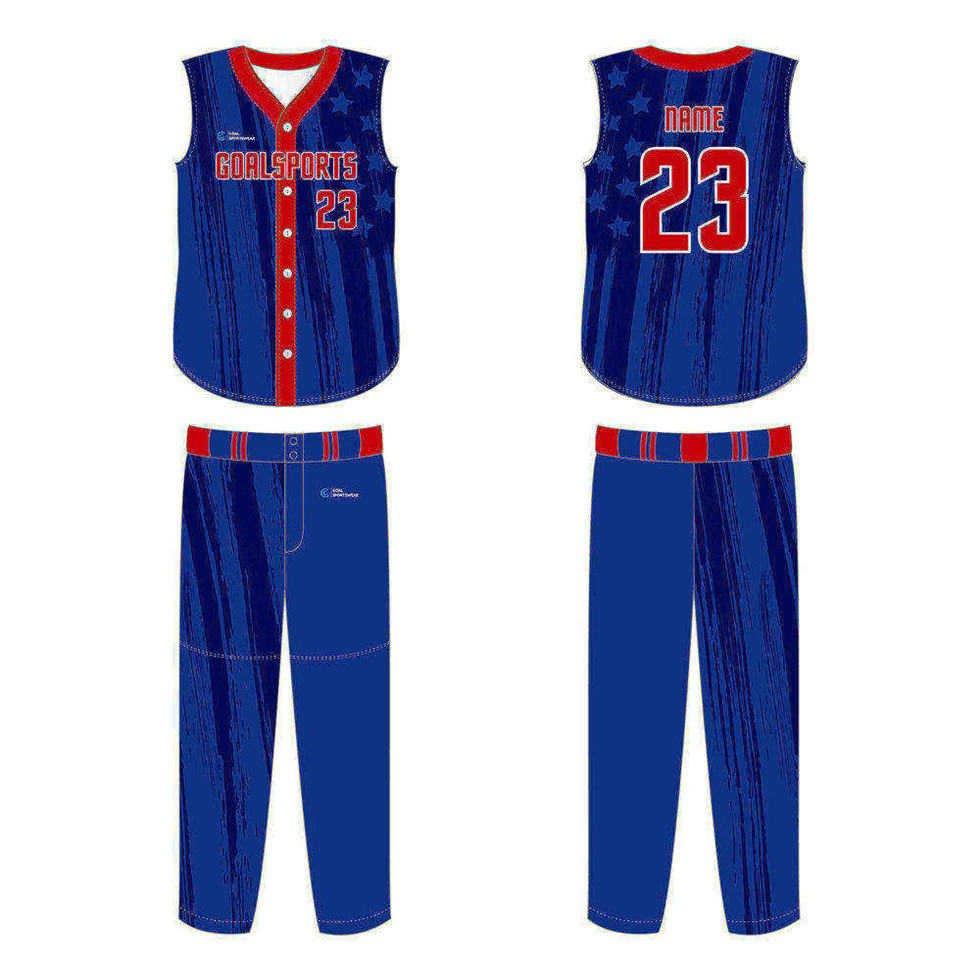 Wholesale pro quality custom design sublimated kids sleeveless baseball jersey