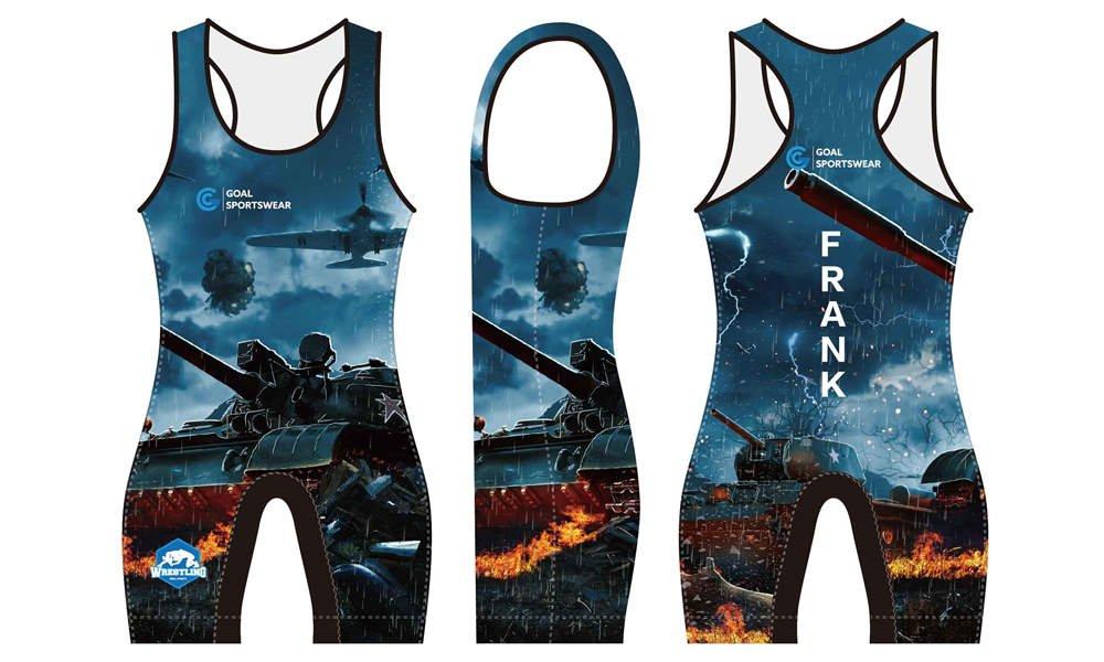 Wholesale pro quality custom design sublimated kids wrestling uniform