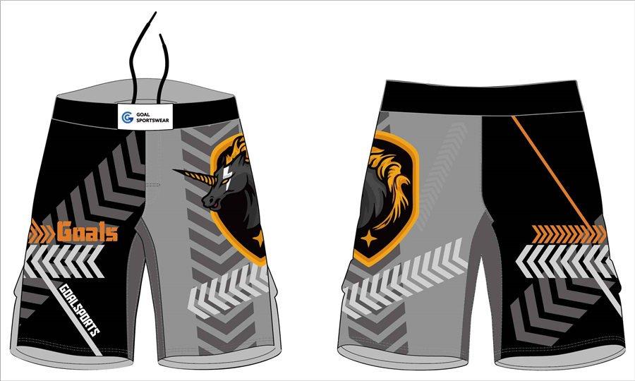 Wholesale pro quality custom design sublimated youth MMA camo shorts
