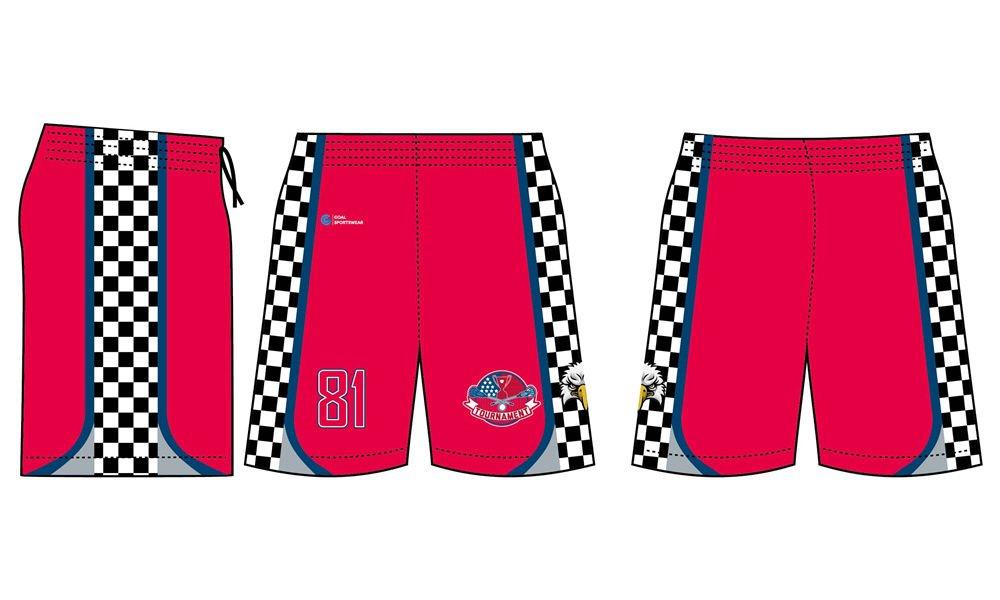 Wholesale pro quality custom design sublimated youth lacrosse shorts