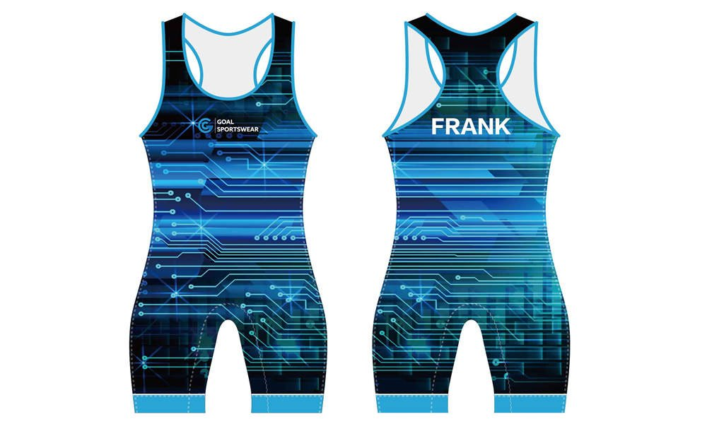 Wholesale pro quality custom design sublimated youth wrestling uniforms