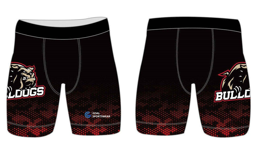 Wholesale pro spandex custom sublimated printed team compression shorts