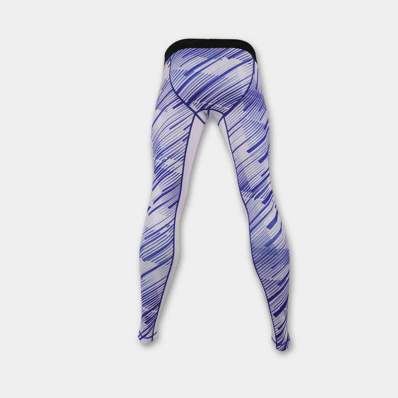 custom printed mma compression pants back