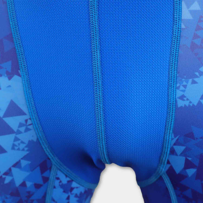 custom sublimation blue camo mens compression shorts crotch