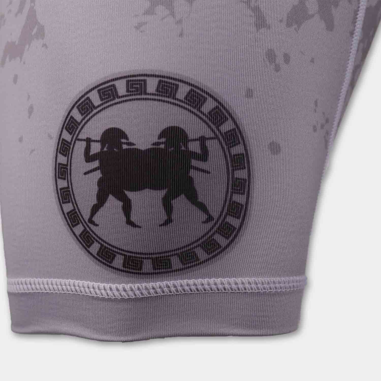 custom sublimation blue camo mens compression shorts printing