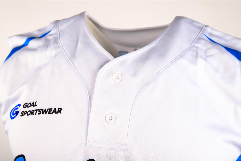 sleeveless baseball jersey buttons