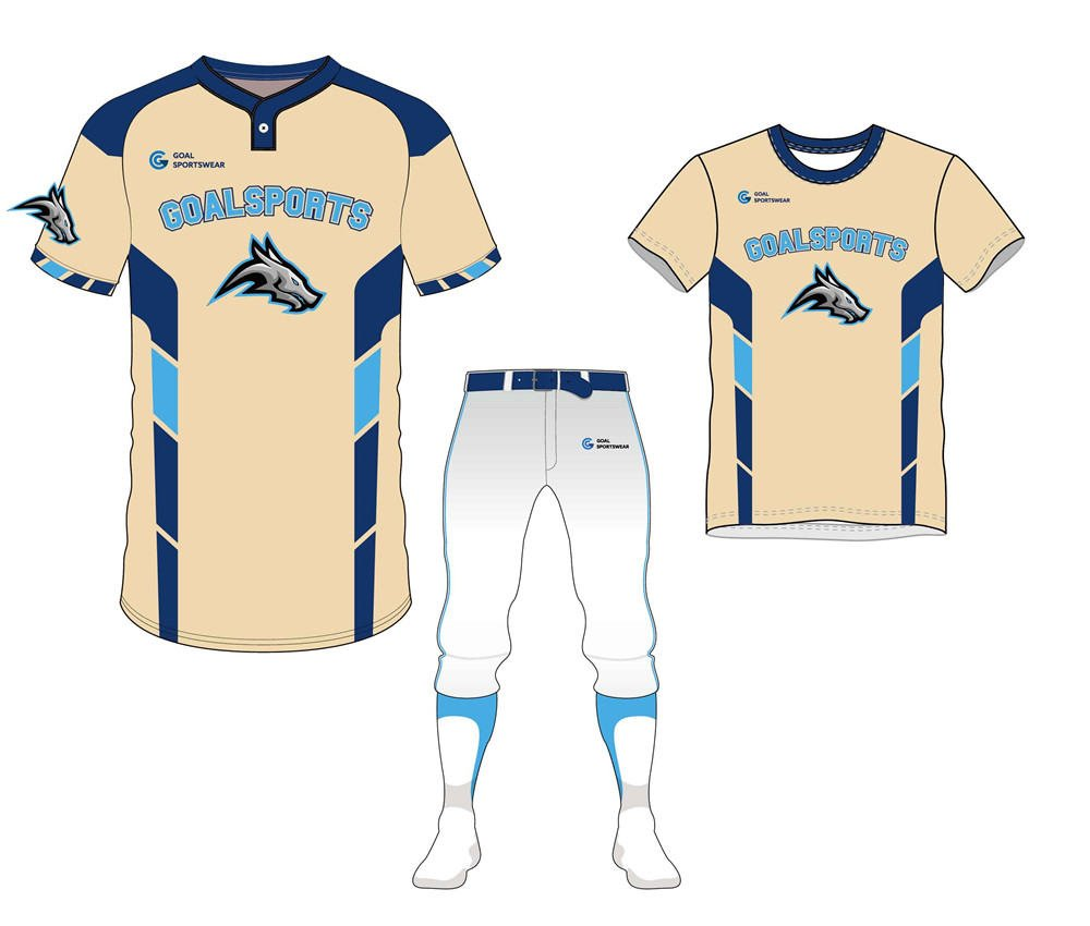 wholesale 100% polyester custom made sublimation baseball uniform packages