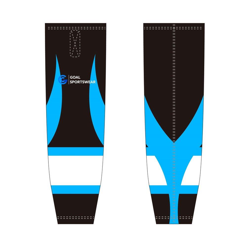 wholesale 100% polyester custom made sublimation hockey socks