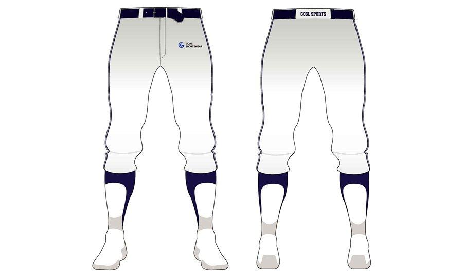 wholesale 100% polyester custom printed college Baseball Pants