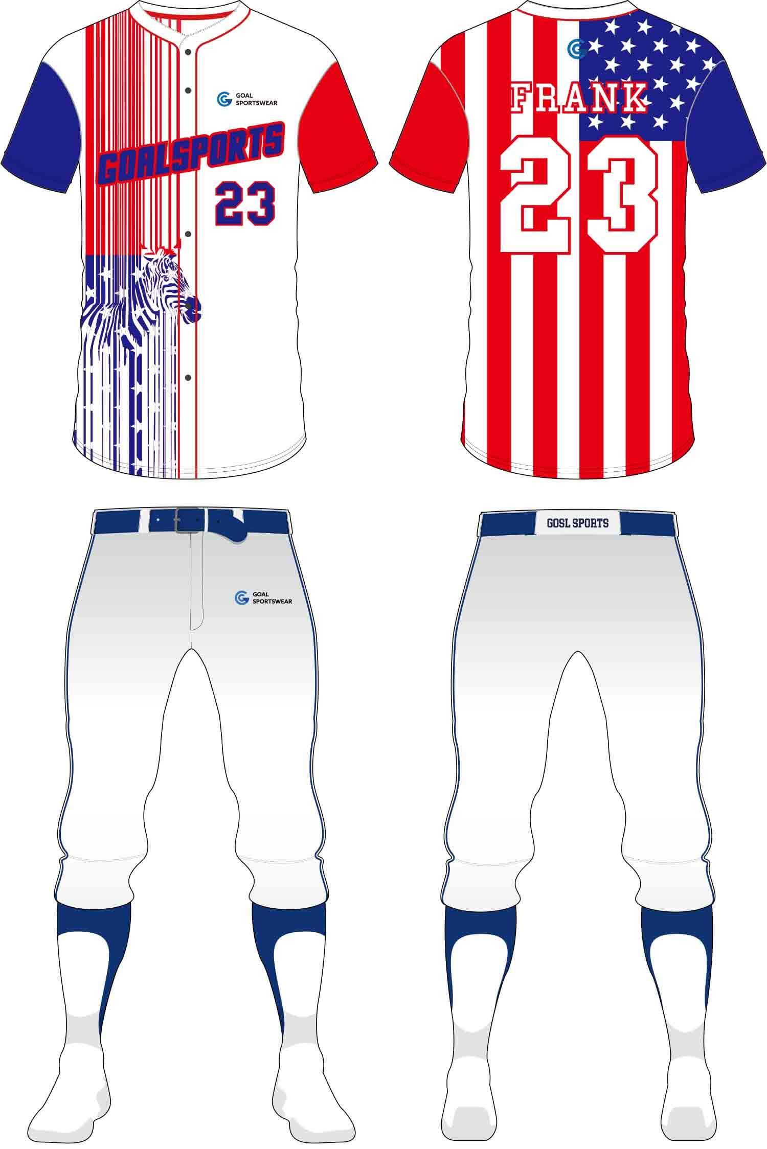 wholesale 100% polyester custom sublimated printed Baseball Pants