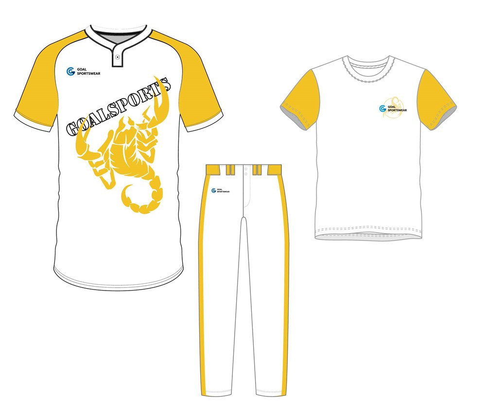 wholesale 100% polyester custom sublimated printed baseball uniform packages