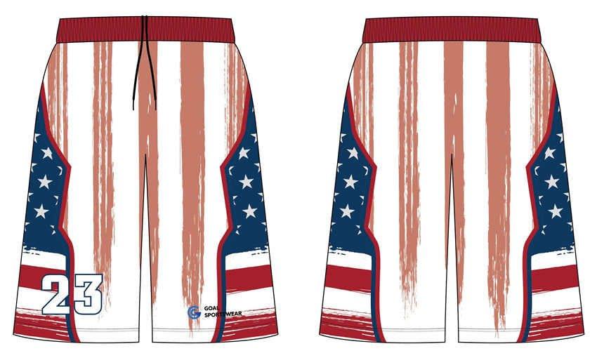 wholesale 100% polyester custom sublimated printed basketball shorts