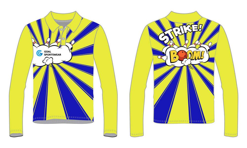 wholesale 100% polyester custom sublimated printed bowling jerseys