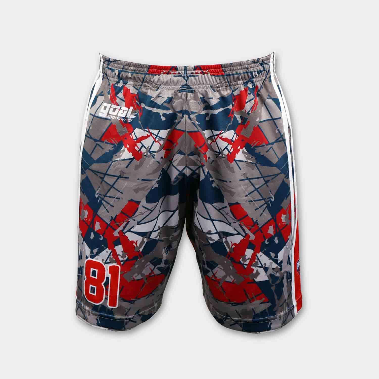 wholesale 100% polyester custom sublimated printed reversible basketball shorts