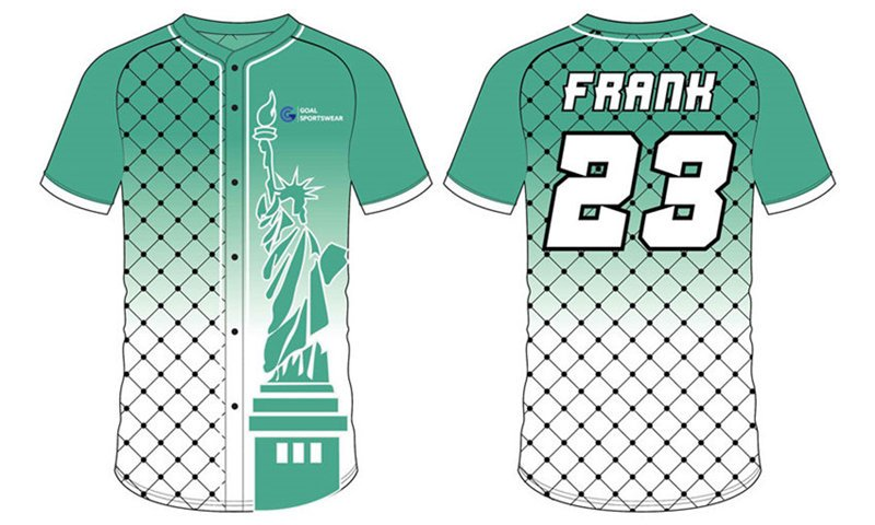 wholesale 100% polyester custom sublimated printed softball shirts
