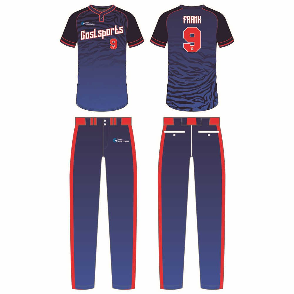 wholesale China custom design sublimation printing slow pitch softball jerseys