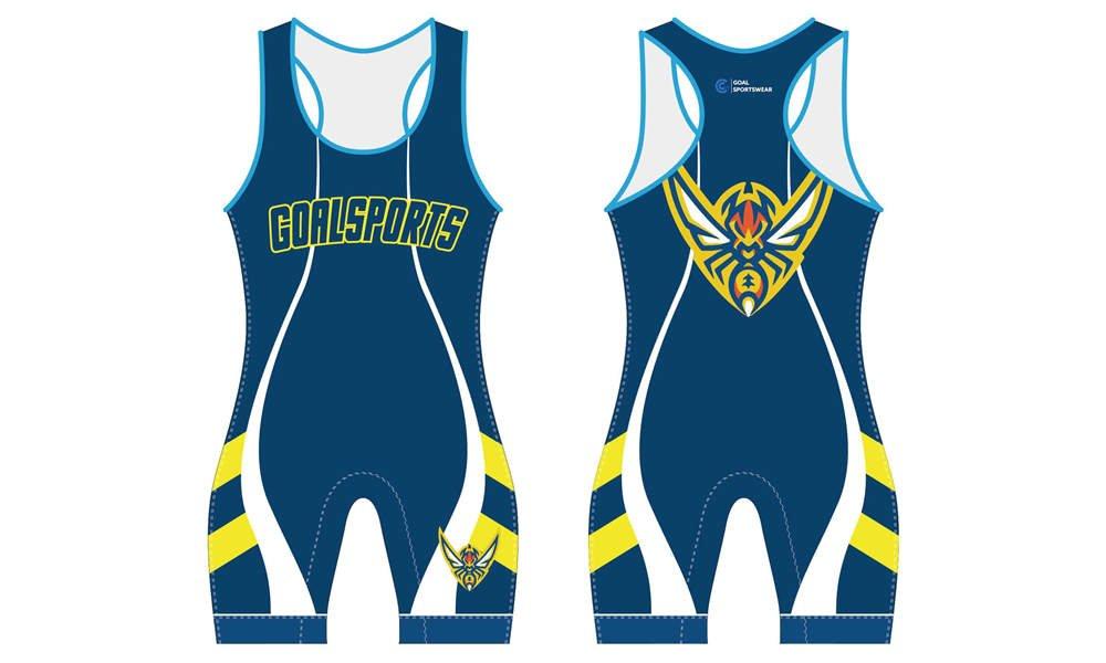 wholesale China custom design sublimation printing wrestling uniform