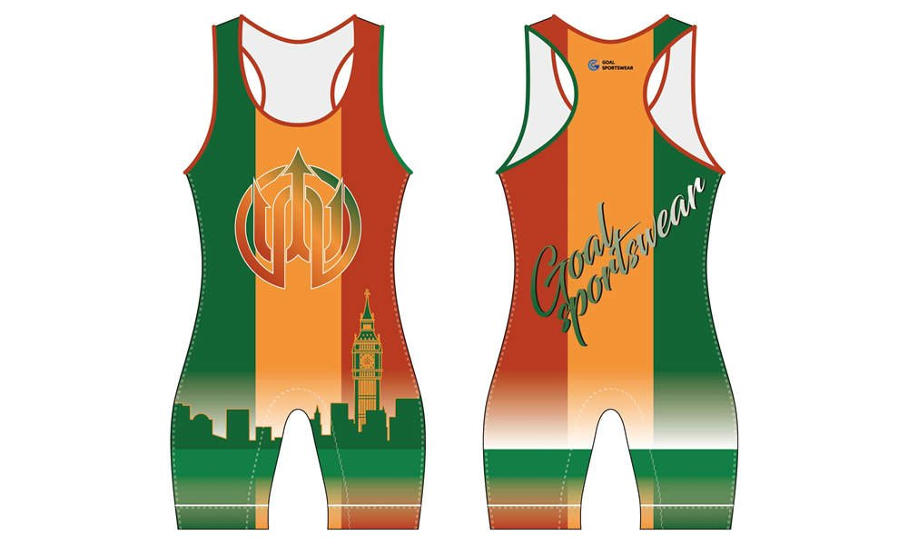 wholesale high qualtiy mens custom made wrestling uniform