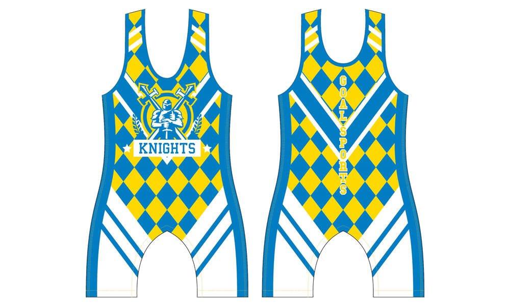wholesale polyester spandex custom made sublimation wrestling uniforms
