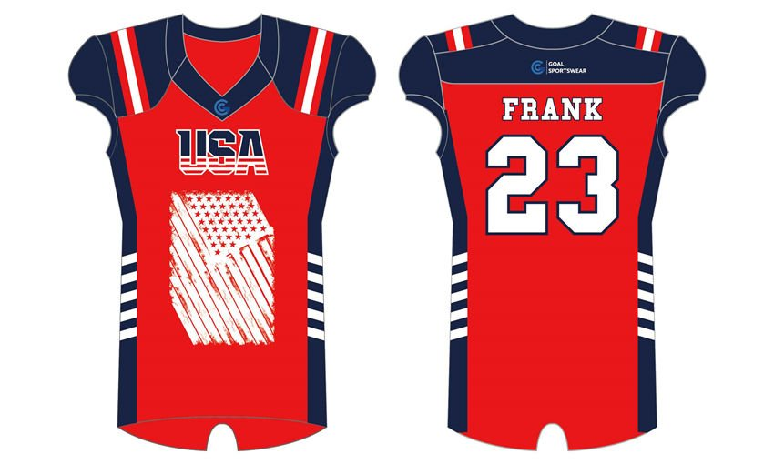100% polyester sublimation custom printed custom college football jersey