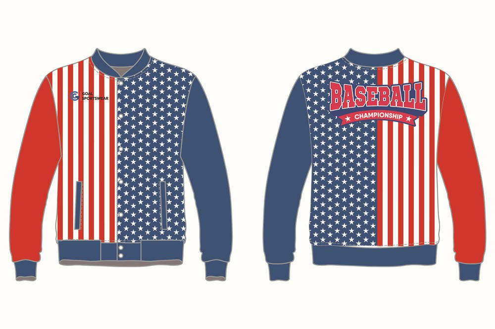 100% polyester sublimation mens custom Custom Baseball jackets