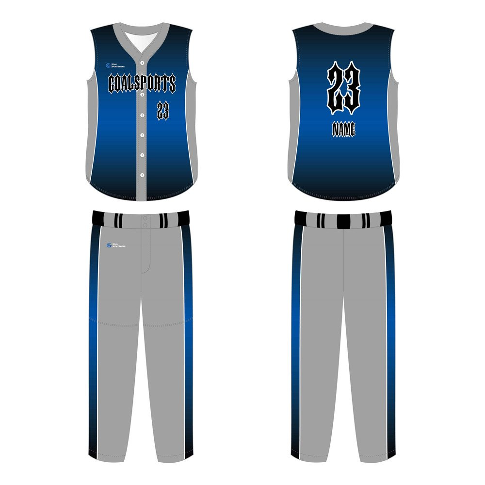100% polyester sublimation mens custom Custom Sleeveless Baseball Jerseys