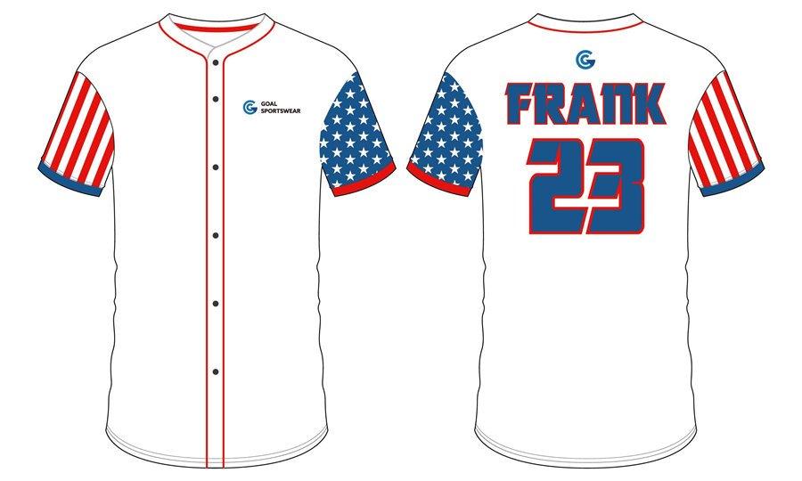 100% polyester sublimation mens custom Full Button Baseball Jerseys