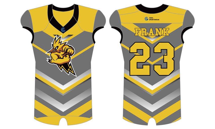 100% polyester sublimation mens custom custom college football jersey