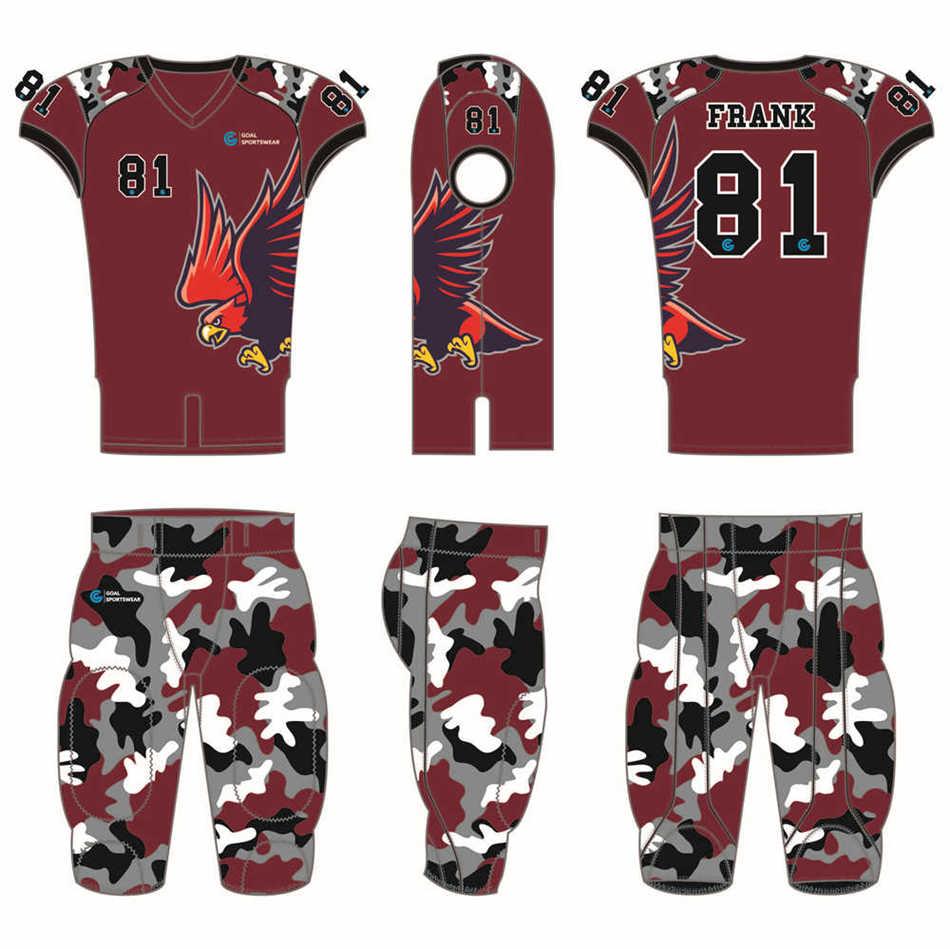 100% polyester sublimation mens custom custom football uniforms