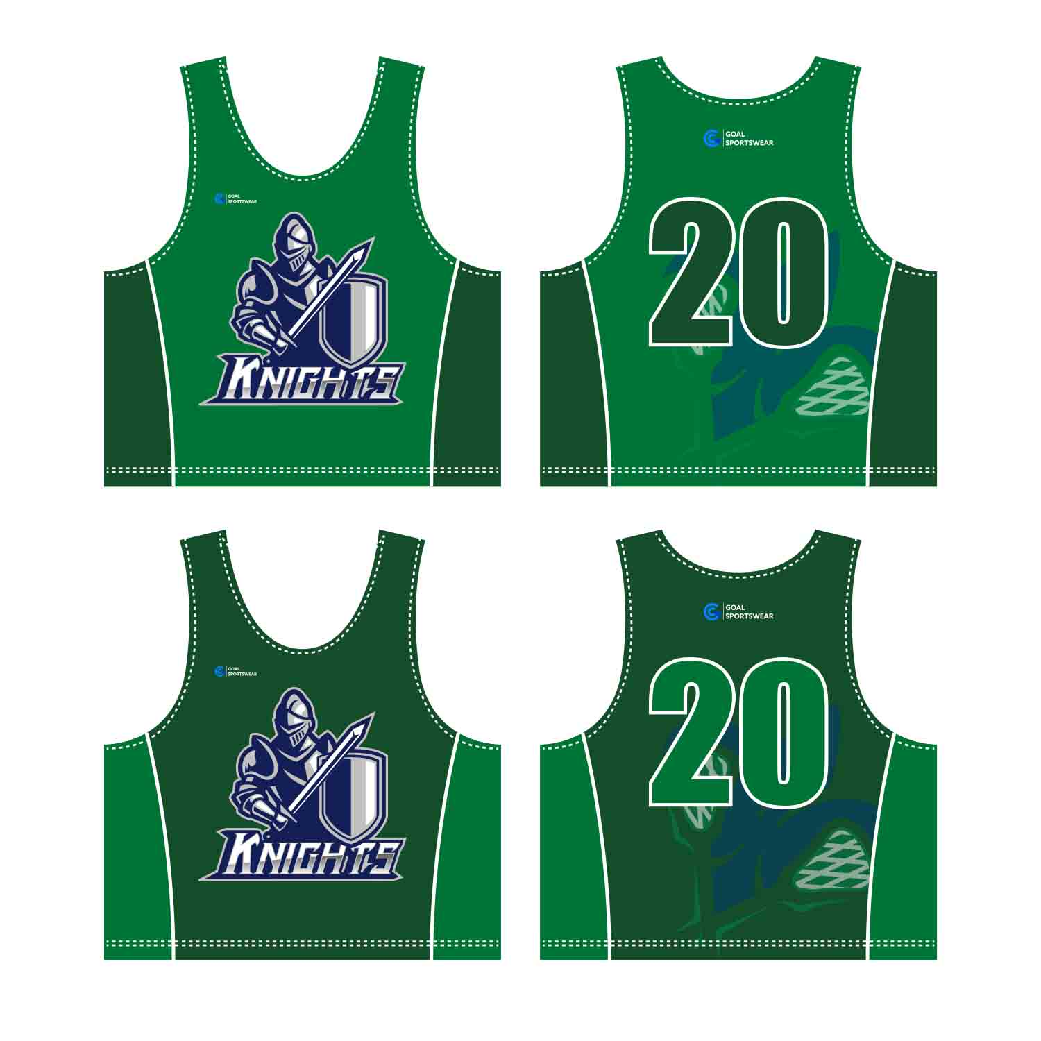 100% Polyester Sublimation Men's Custom Lacrosse Pinnies