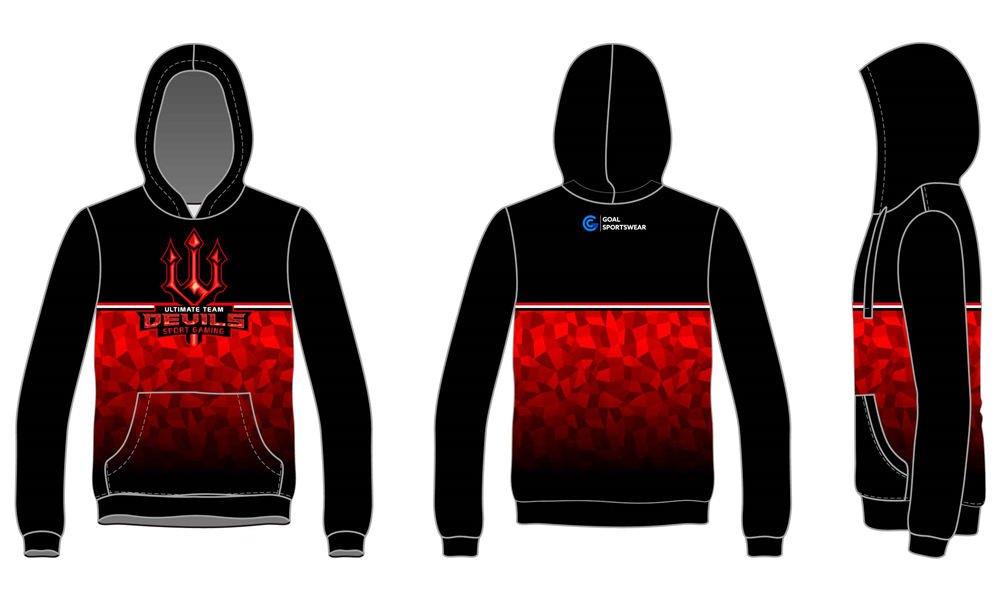 100% polyester sublimation printing custom youth team custom Soccer Hoodies