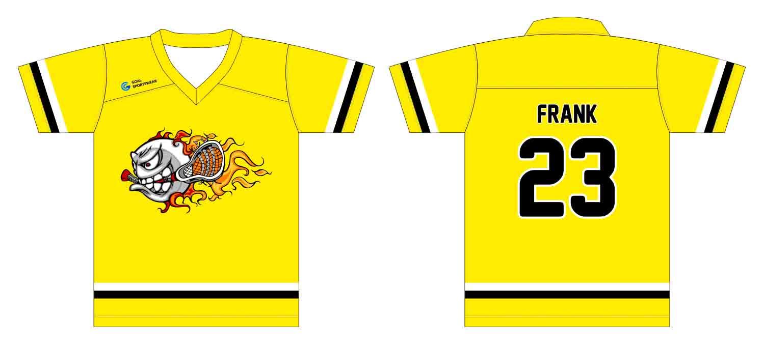 100% polyester sublimation printing custom youth team Custom lacrosse shirt
