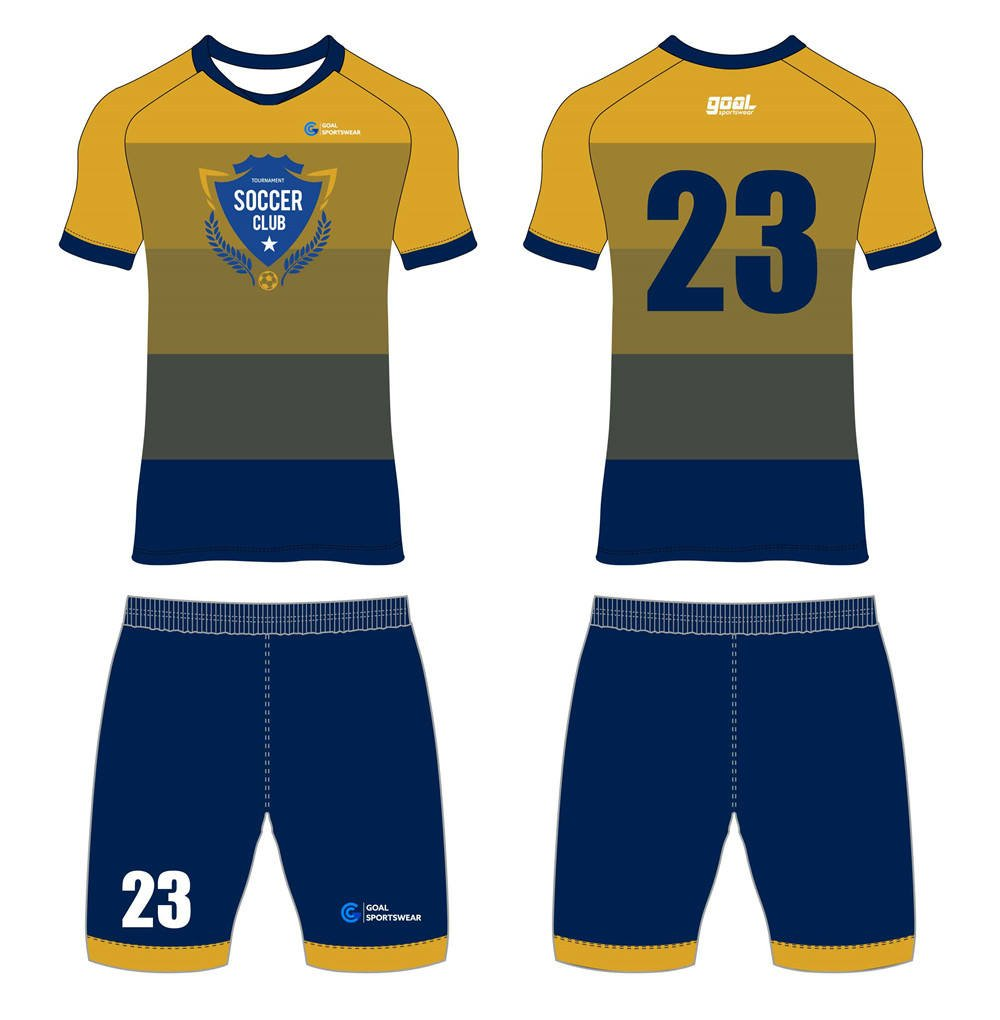 100% polyester sublimation printing custom youth team custom soccer kits