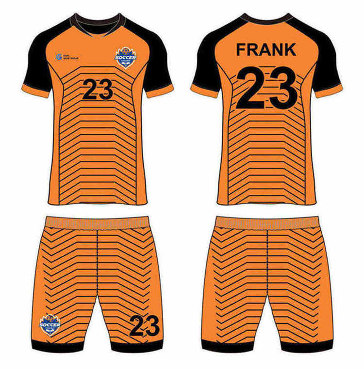 100% polyester sublimation printing custom youth team custom soccer tops