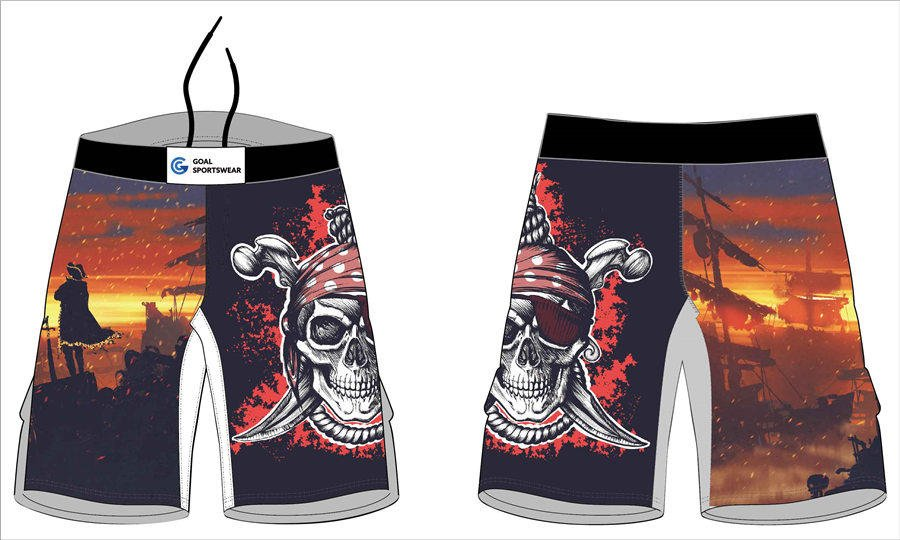 100% polyester sublimation printing custom youth team wrestling fight shorts