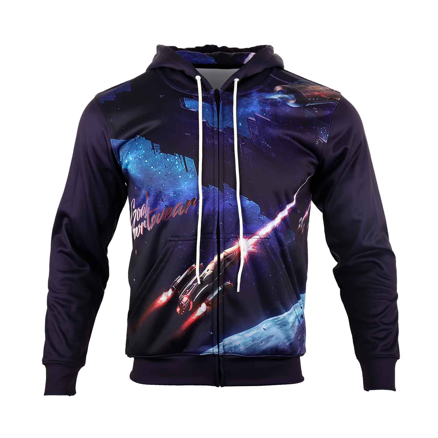 Sublimated zipper up hoodie