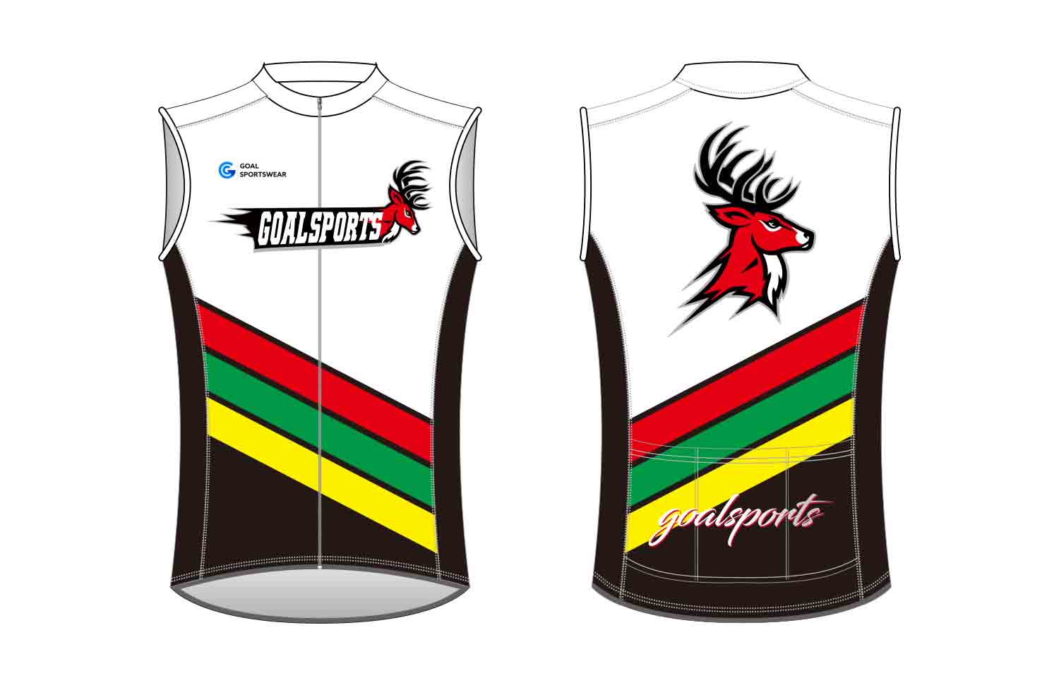 Custom design sublimation printing breathable reversible custom Cycling Vest