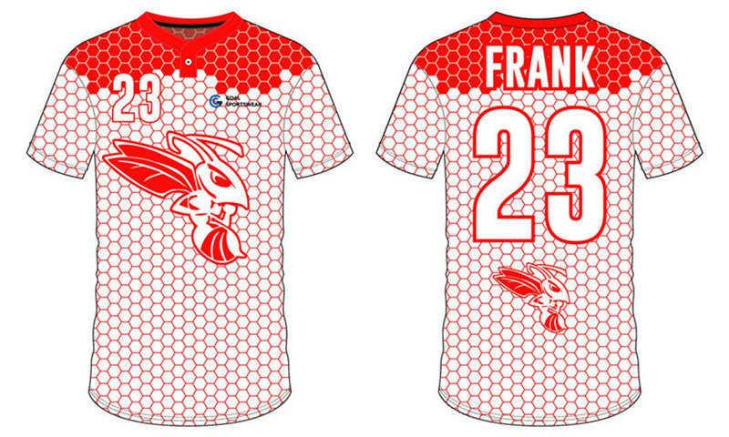 Custom design sublimation printing breathable reversible custom baseball team jerseys