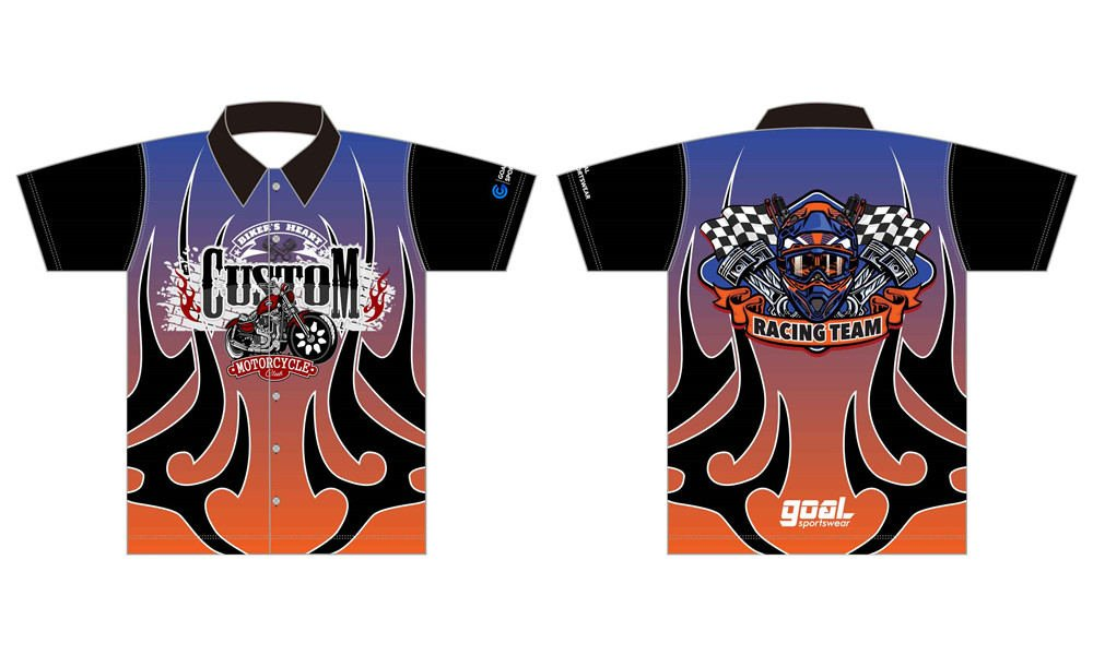 Custom design sublimation printing breathable reversible custom pit crew shirts